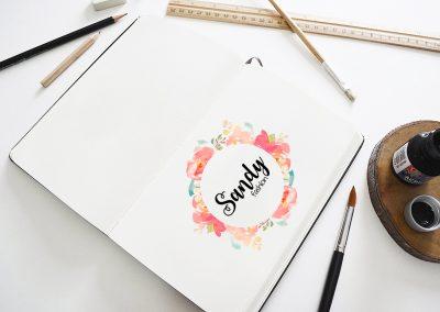 Sandy bizsu logó tervezés