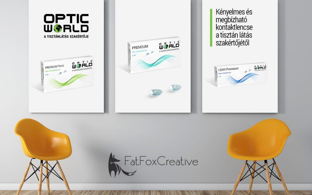 Optic World kontaktlencse család csomagolás tevezés