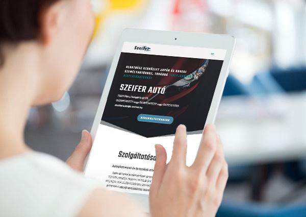 Szeifer autó weboldal